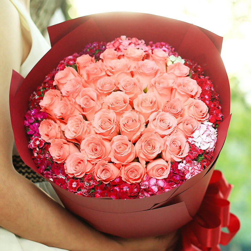 今生摯愛-33支精品粉玫瑰