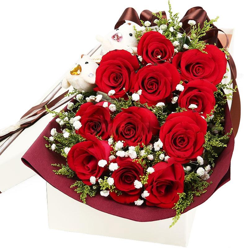 百年好合-11支精品紅玫瑰