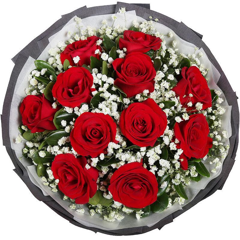 鐘情一生-11支精品紅玫瑰