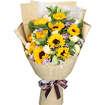 暖暖父愛-10支精品向日葵