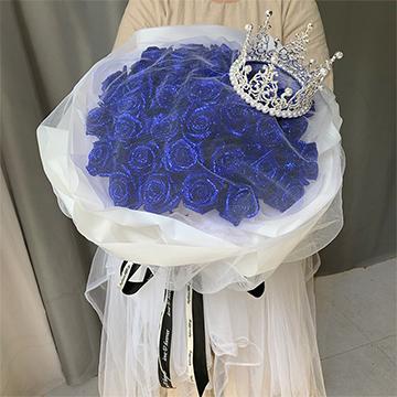 只為伊人-33支精品藍色妖姬