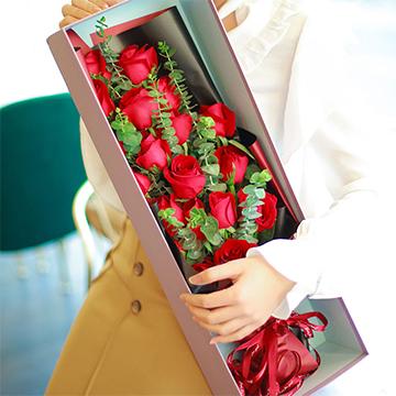 愛無悔-19支精品紅玫瑰