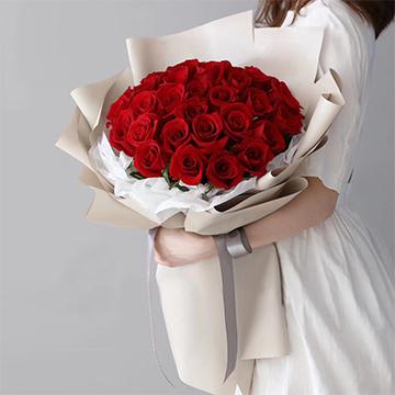 一輩子的諾言-33支精品紅玫瑰