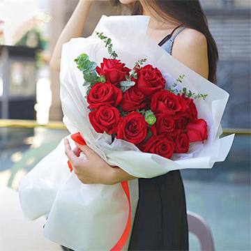 愛在心頭-16支精品紅玫瑰