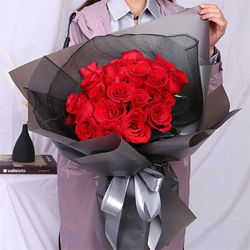給你無盡的愛-19支精品紅玫瑰