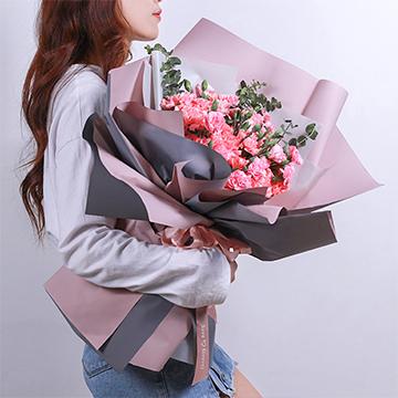 健康長久-33支精品粉色康乃馨