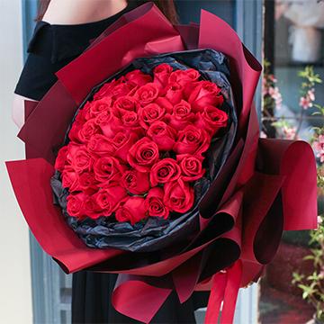 與你共舞-33支精品紅玫瑰