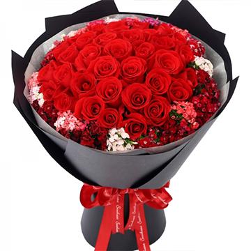 我們的愛-33支精品紅玫瑰