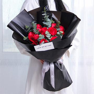 愛的誓言-11支精品紅玫瑰