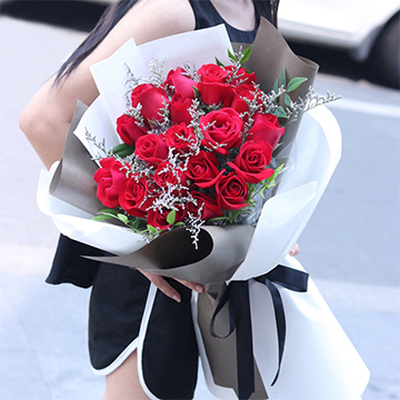 不變的心-19支精品紅玫瑰
