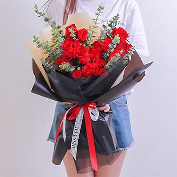 等待愛情-19支精品紅玫瑰