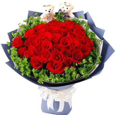 给女朋友送花