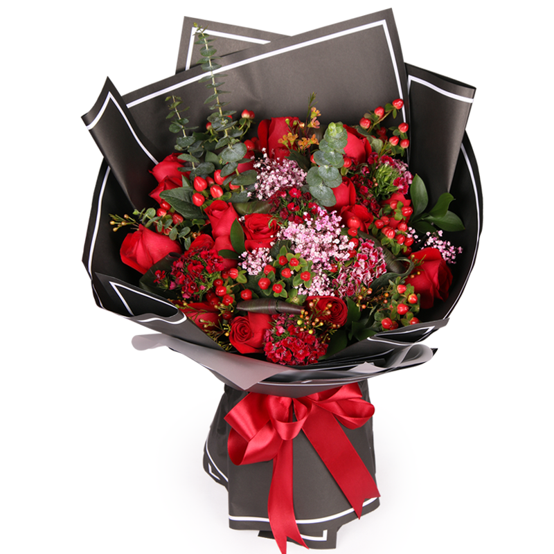 求爱表白送花祝福语