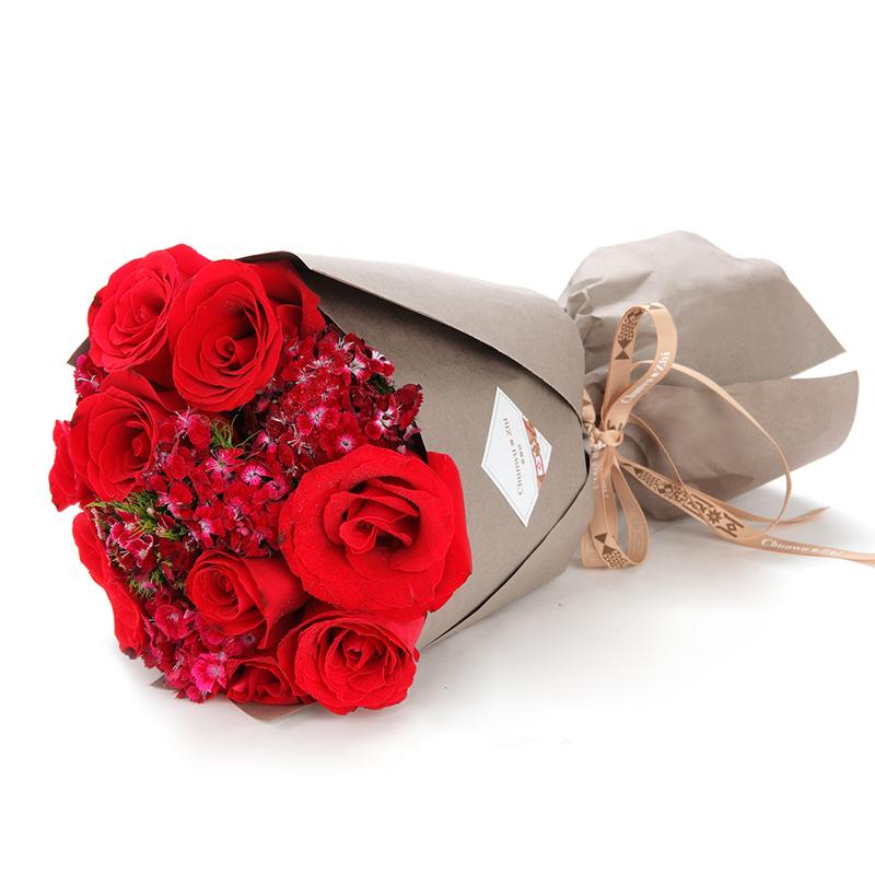 爱情密码-9支精品红玫瑰