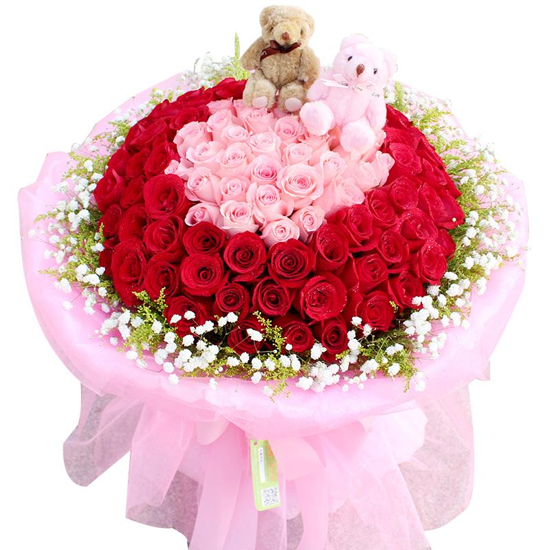 甜蜜告白-99支精品混色玫瑰
