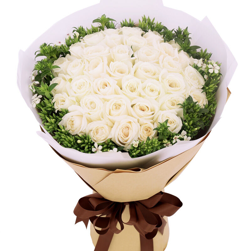 白色心情-33支精品白玫瑰