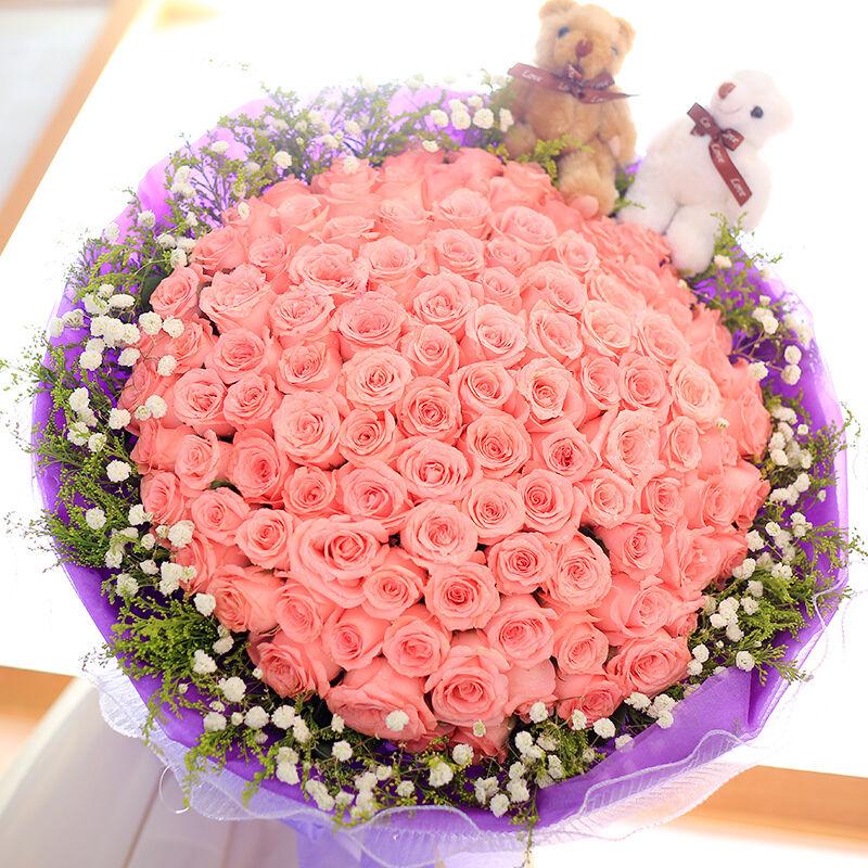 为你而梦-99支精品粉玫瑰