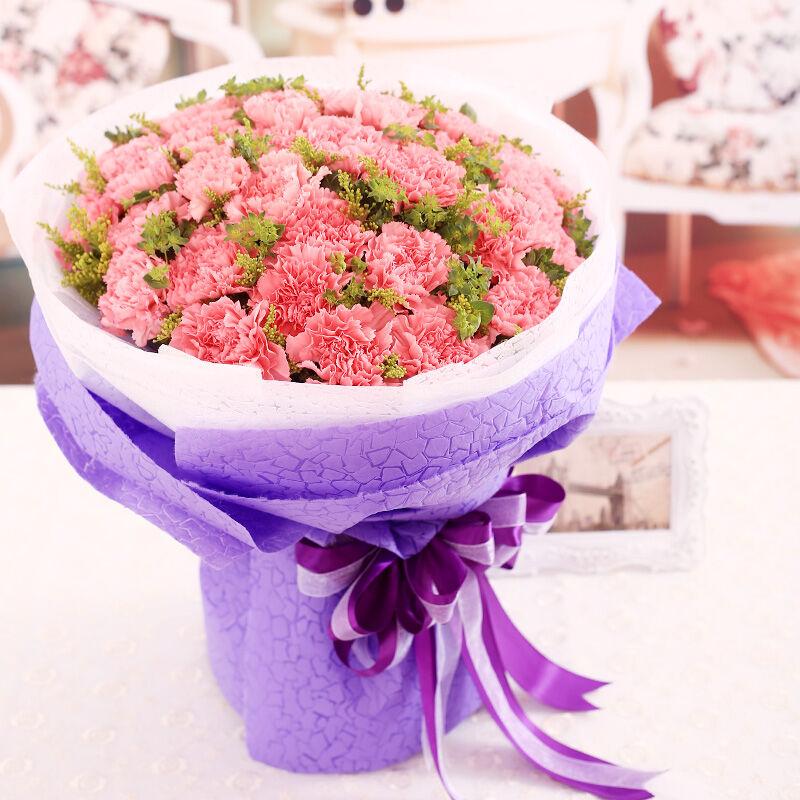 心存感激-33支粉色康乃馨