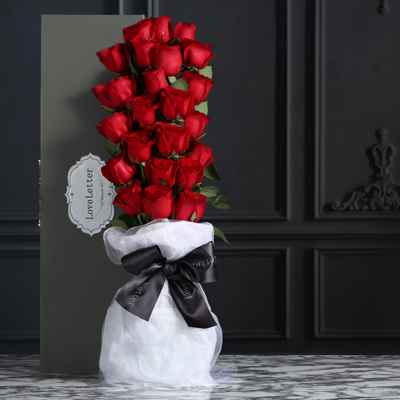 比翼双飞-33支精品红玫瑰鲜花