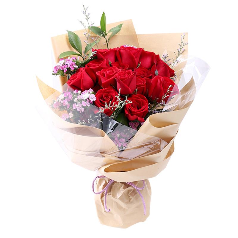 爱你一生-16支精品红玫瑰鲜花