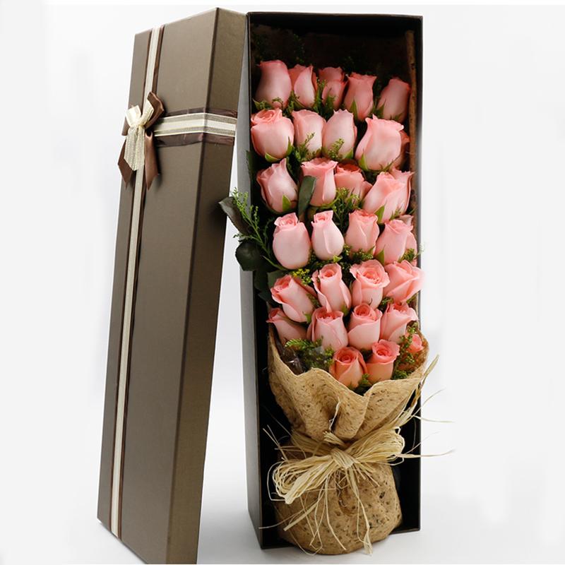 浪漫缤纷-33支精品粉玫瑰鲜花