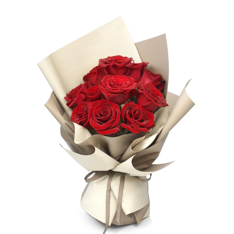 花开无声-11支精品红玫瑰鲜花
