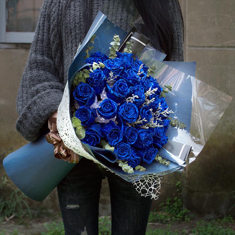 七夕情人节成都市同城花店哪里有蓝色妖姬卖呢