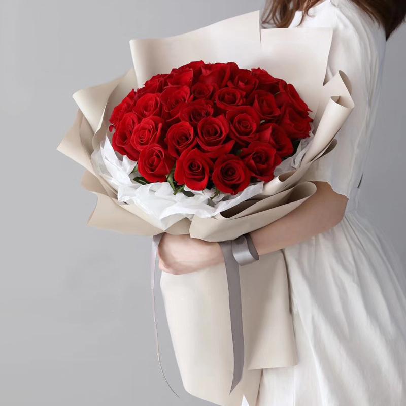 一辈子的诺言-33支精品红玫瑰