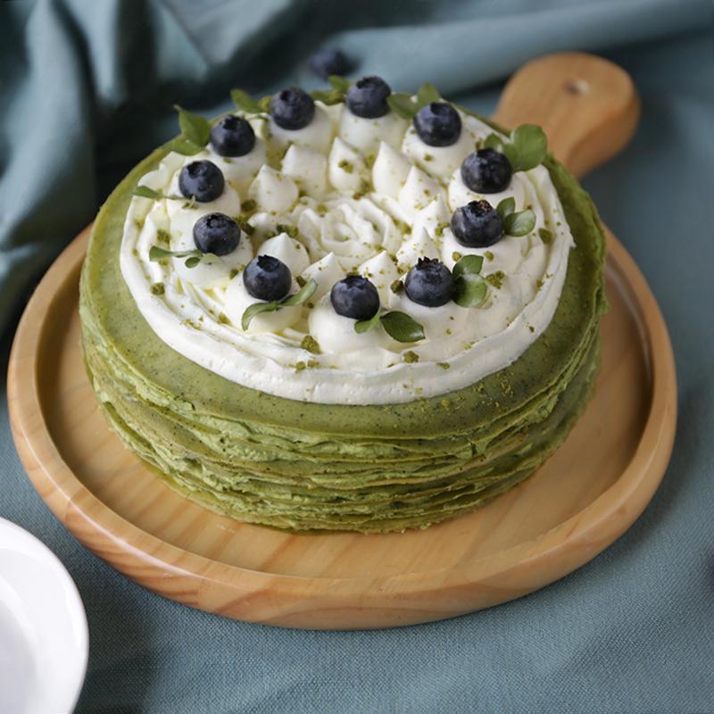 娟蝶蛋糕店分享抹茶千层蛋糕的做法