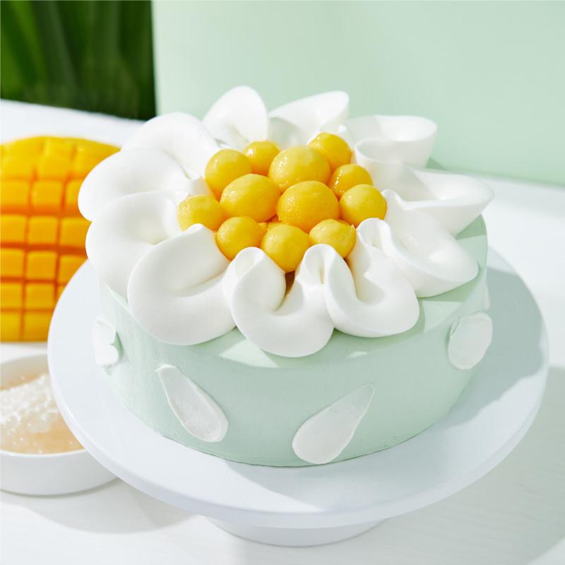 新鲜芒果奶油蛋糕