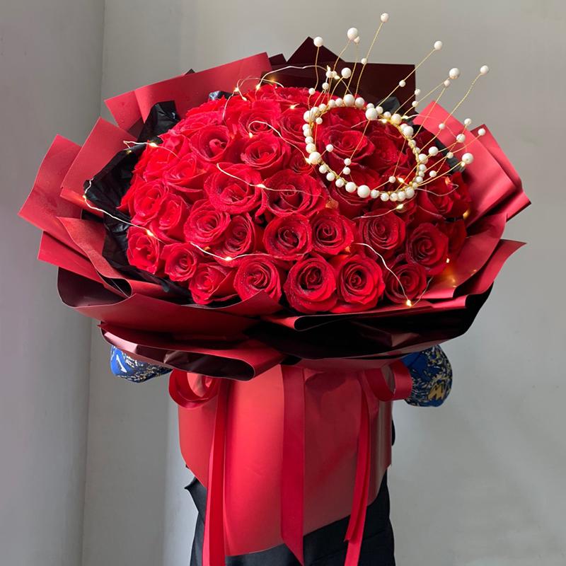 天长地久-52支精品红玫瑰