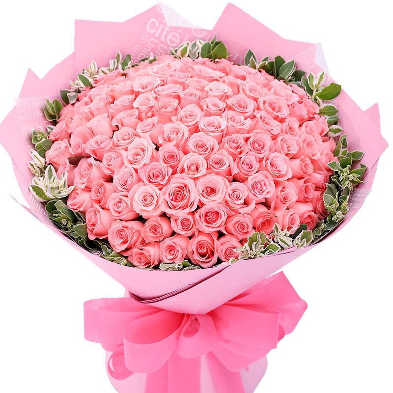 今天惹女朋友生气了,想送一束鲜花给道歉。但是我重来没有买过话,求推荐。我自己选择了一款,给点意见!