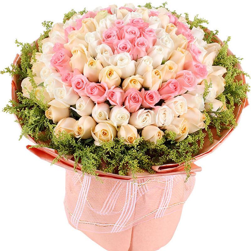 爱丽丝梦境-99支精品混色玫瑰