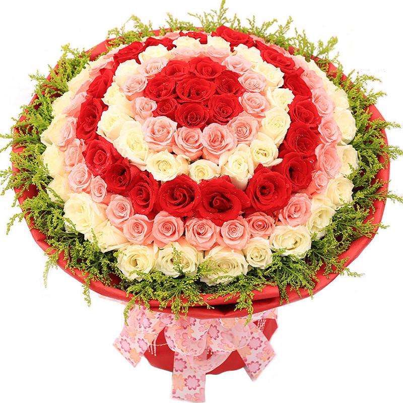 远方的思念-99支精品混色玫瑰