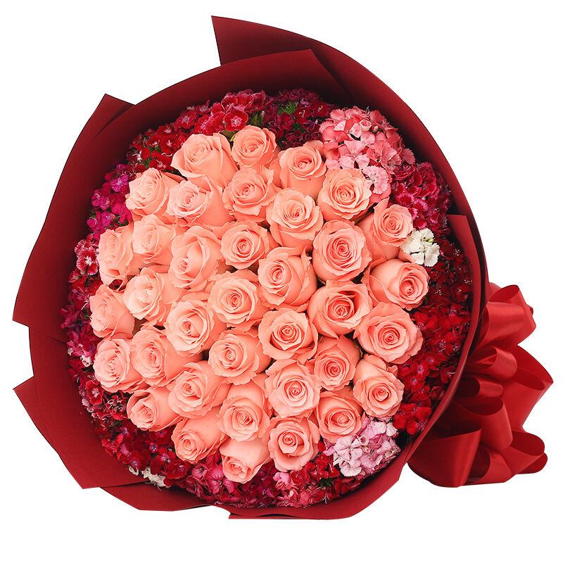 今生挚爱-33支精品粉玫瑰