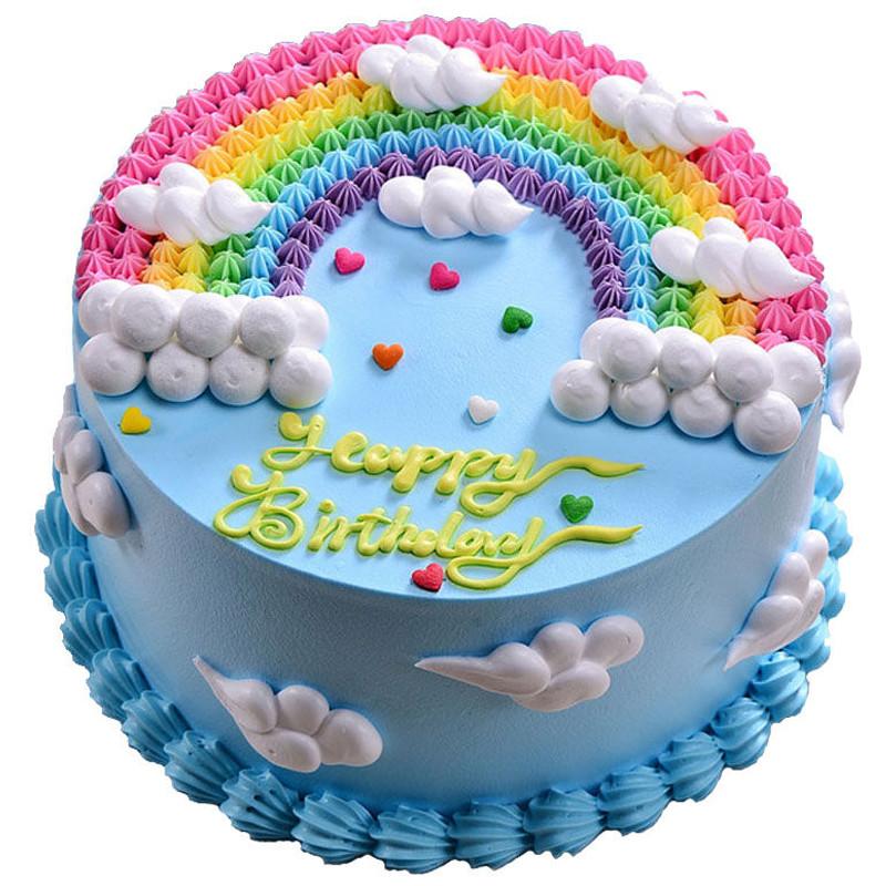 <font color=#000000>彩虹之家-新鲜奶油圆形蛋糕</font>