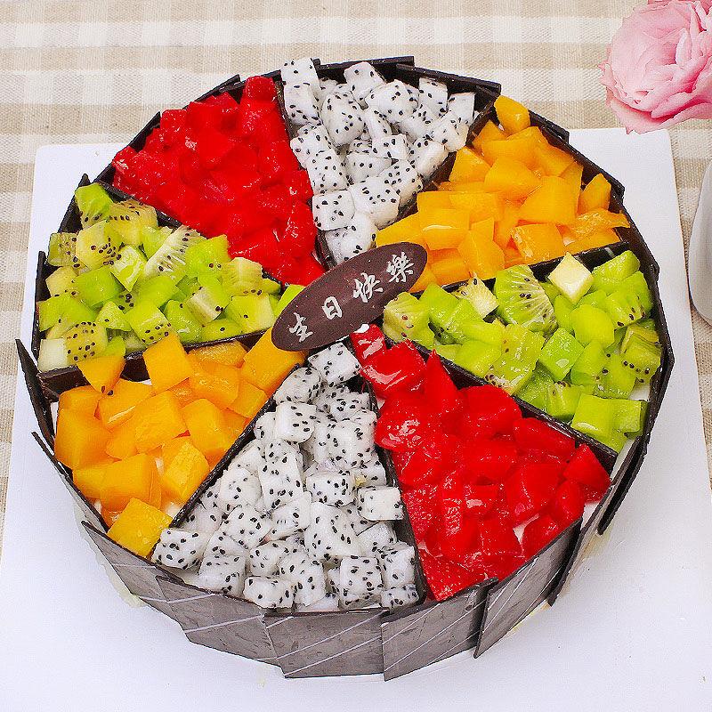 果语甜心-圆形鲜奶水果蛋糕