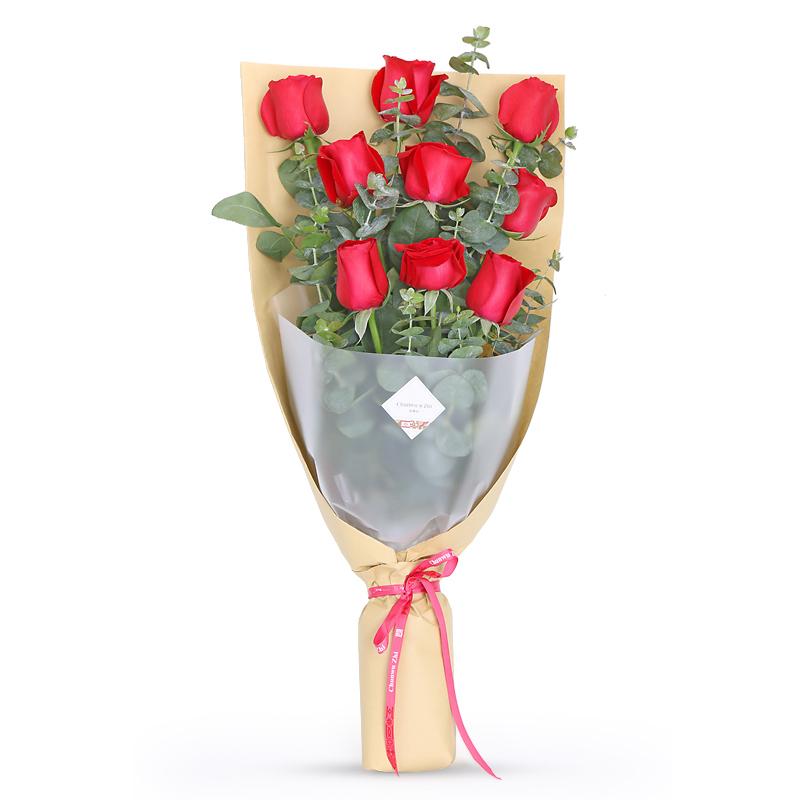 一生钟情-9支精品红玫瑰