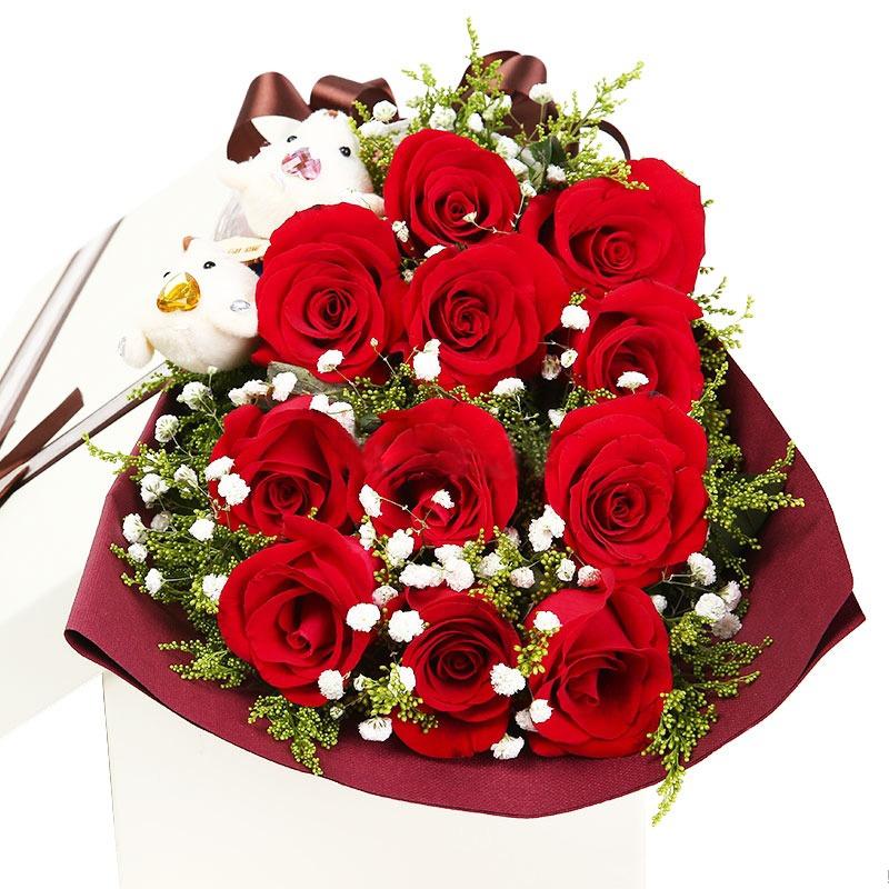 百年好合-11支精品红玫瑰