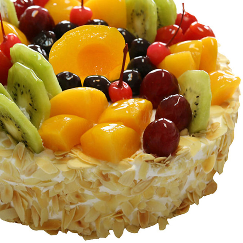 缤纷之果-圆形水果蛋糕