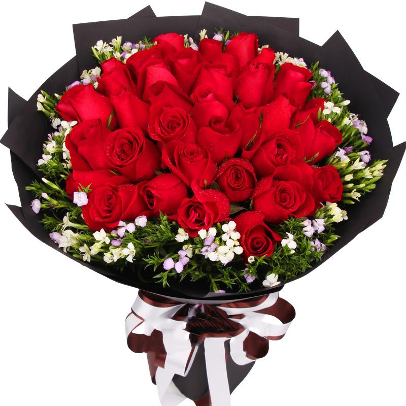 我的挚爱-33支精品红玫瑰