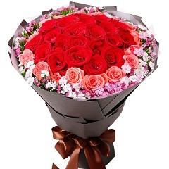 签约幸福-33支精品混色玫瑰