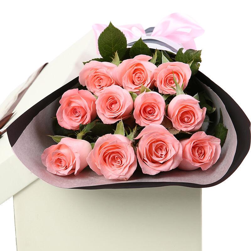 不离不弃-11支精品粉玫瑰