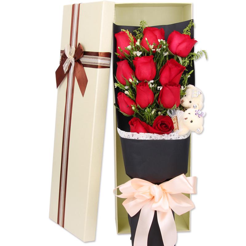 怦然心动-11支精品红玫瑰