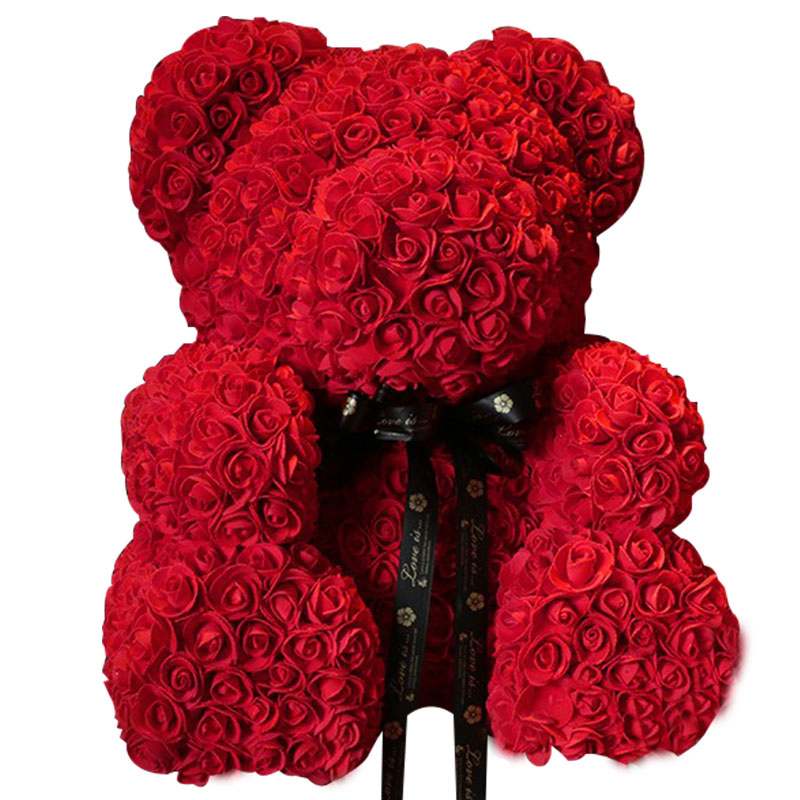 玫瑰花熊-1314朵精品香皂花