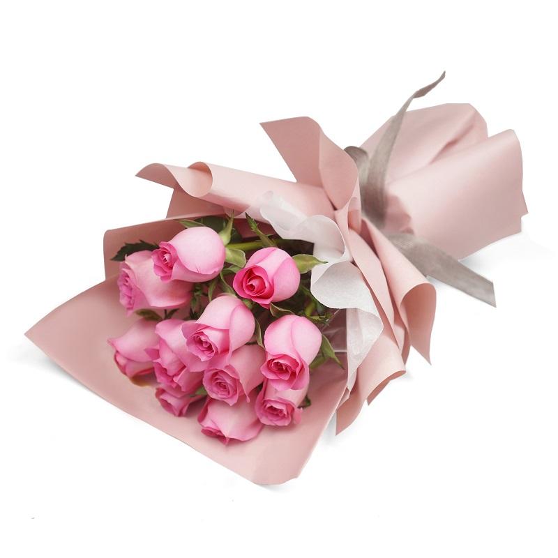 生命中的太阳-11支精品粉玫瑰