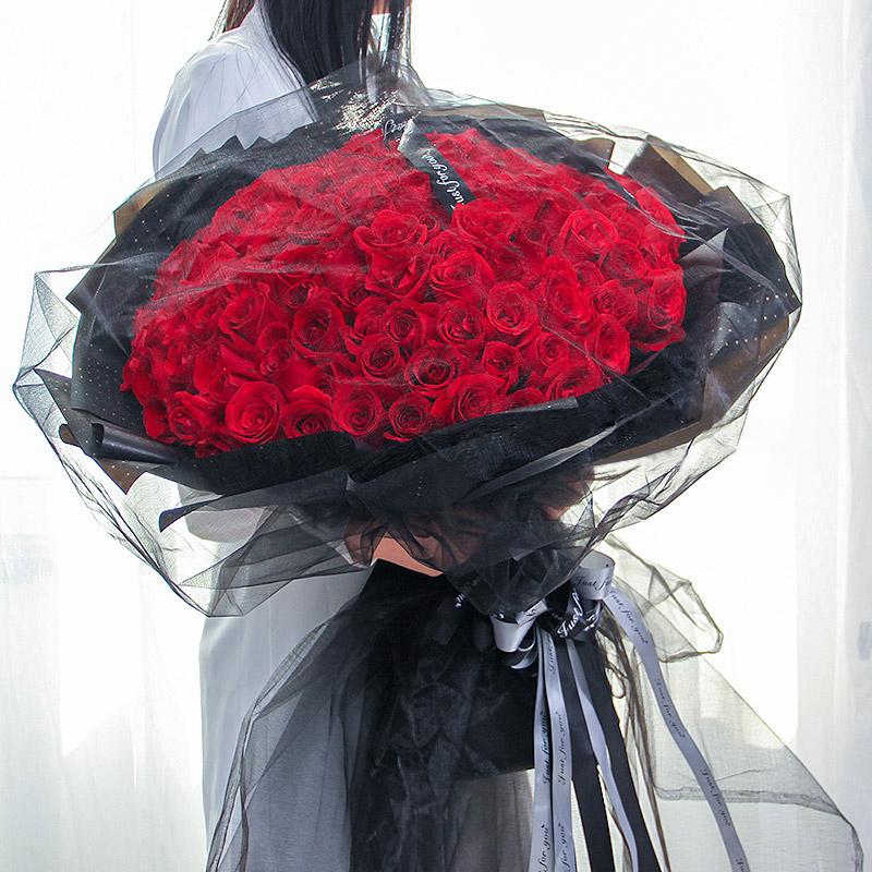 爱意浓-99支精品红玫瑰