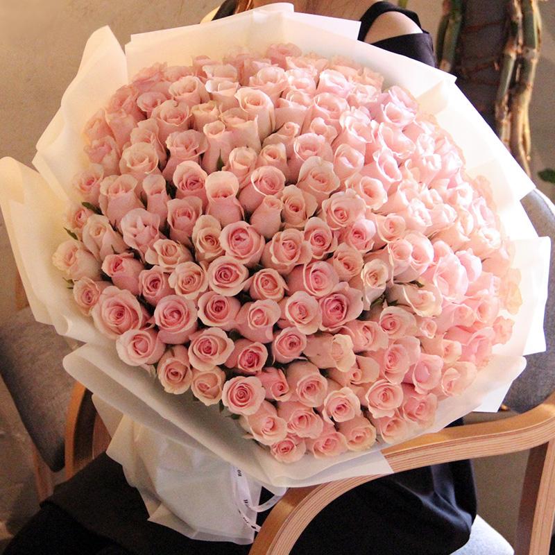 宛如初见-99支精品粉玫瑰