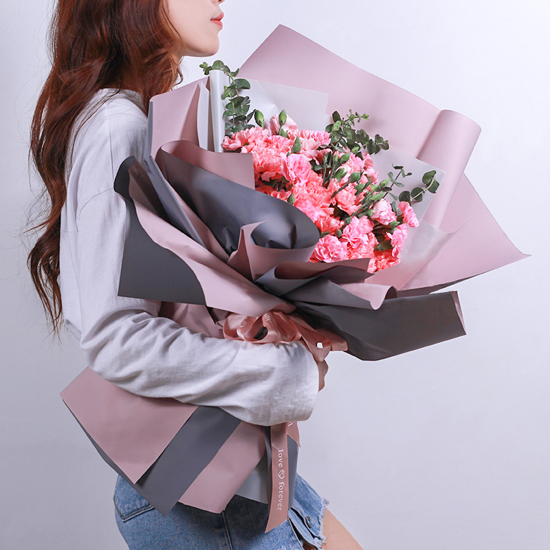 健康长久-33支精品粉色康乃馨