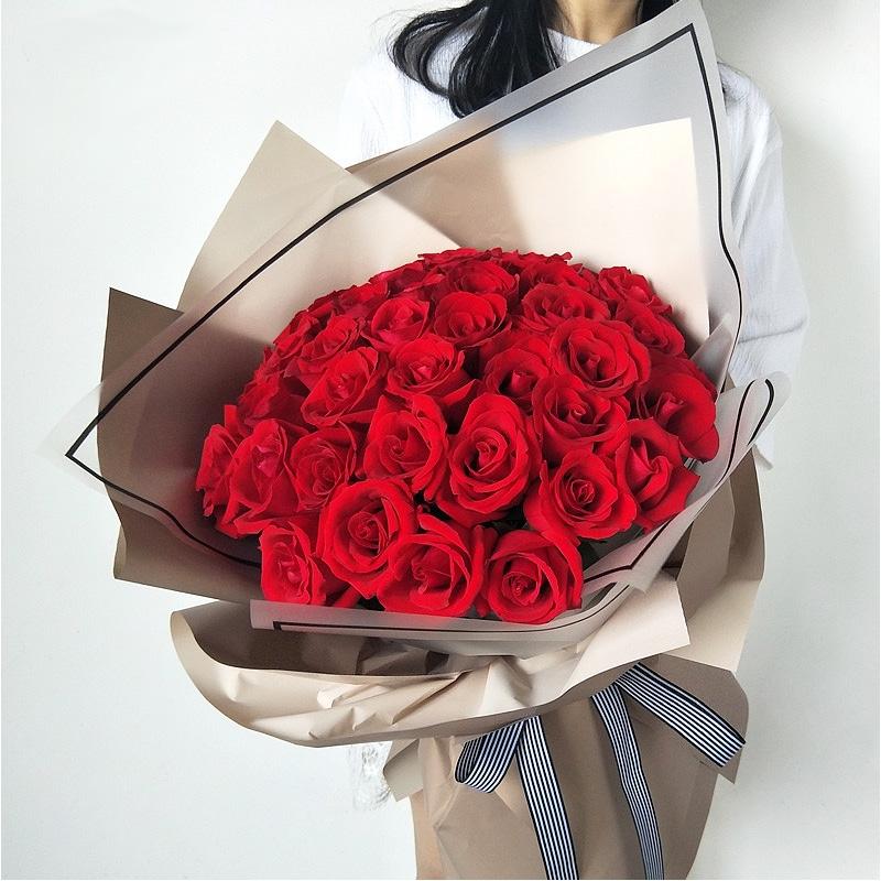 爱意朦胧-33支精品红玫瑰